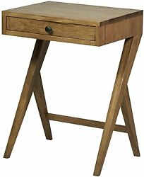24 Set Of Two Side Table Night Stand Walnut Dark 2870
