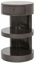 26 Set Of Two Side Table Night Stand Solid Mahogany Wood Traditional Wood 579