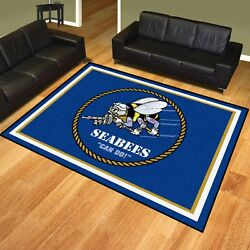 U.s. Navy Seabees 8and039 X 10and039 Decorative Ultra Plush Carpet Area Rug