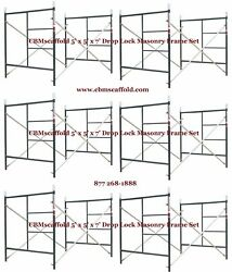 6 Set Of 5and039 X 5and039 X 7and039 Masonry Bj Drop Lock Scaffold Frame Set Cbm Scaffold