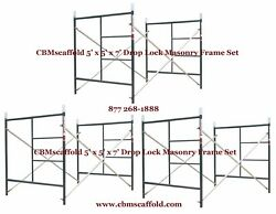 3 Set Of 5and039 X 5and039 X 7and039 Masonry Bj Drop Lock 1.69 Scaffold Frame Set Cbmscaffold