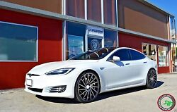 22andrdquo Road Force Rf16 Staggered Wheels Rims For Tesla Model S Sport 22x9 / 22x10.5
