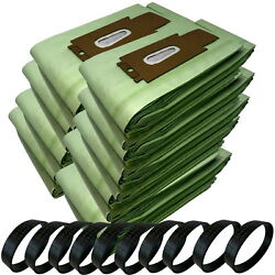100 Type Cc Green Double Wall Bags + 10 Belts For Oreck Upright Vacuum Cleaner