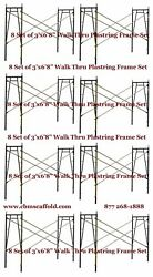 8 Set Of 3and039 X 6and0398 X 10and039 Plastering Masonry Scaffold Frame Set Cbm Scaffold