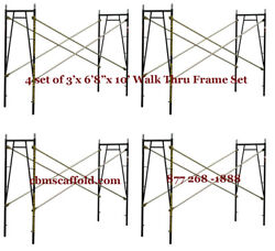 4 Set Of 3and039 X 6and0398 X 10and039 Plastering Masonry Scaffold Frame Set Cbmscaffoldcom