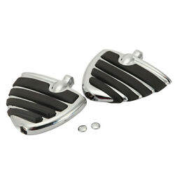 Chrome Wing Foot Pegs Rest For Harley Heritage Softail Springer Classic Special