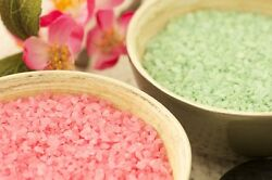 10lbs Bath Salts (2 - 5lb Bags) Flower Scents ~Lilac and Honeysuckle~
