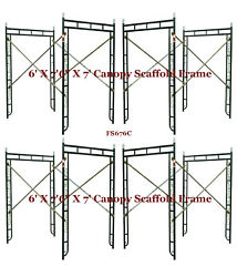 Cbm Scaffold 4 Set Of 5and039 X 7and0396 X 7and039 Canopy Scaffold Frame For Entry Side-walk