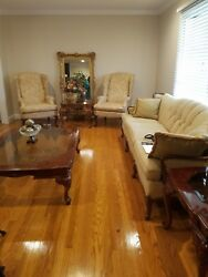2 Queen Anne Chairs And Antique Couch For 450.00