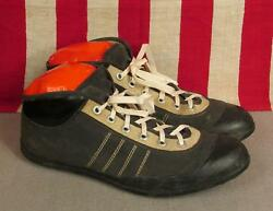 Vintage 1940s Viking Football/rugby Sneakers Turf Cleats Size 45 Norway 10.5-11