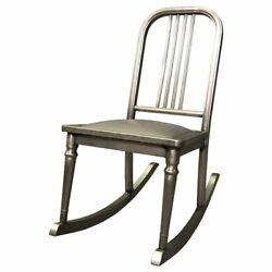 Petite Brushed Steel Rocking Chair By Simmons Sheraton Series