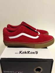 Old Skool Pro S Syndicate Odd Future Red Gum Golf Wang Tyler Donut 6.5-9