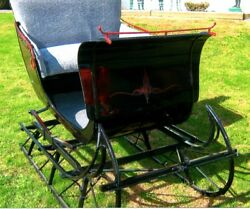 RESTORED AntiqueHorse-Drawn Cutter Sleigh by Fisher Body Company(w shafts)