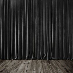 Black Curtain Screen Vinyl Photo Backdrops Christmas Photography Background