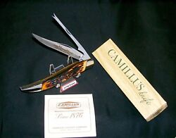 Camillus 31 Knife Indian Stag 1973 Usa Sword Brand Handmade W/packaging,papers
