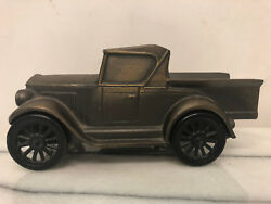 Banthrico Inc Chicago Usa 1928 Metal Old Fashioned Car Coin Bank - Vintage