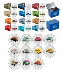 2017 50c Ford Heritage 12 Coins Tin + 2016 50c Holden Heritage 11 Coins No Tin