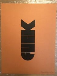 F-bomb By Olly Moss - Rare Signed Original Print 38/50 1st Edition