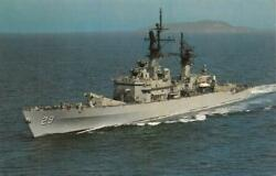 Military~Navy   U.S.S. JOUETT~Guided Missile Cruiser  TERRIER~ASROC  Postcard