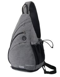 Sling Bag Small Crossbody Casual Canvas Backpack for Men Women School S