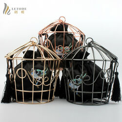 Evening Bag Clutch Cage Metal Cage String Hollow Bags Women Handbags Coin Wallet