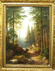 LISTED FAMOUS RUSSIA RARE RUSSIAN IVAN SHISHKIN FOREST LANDSCAPE OIL PAINTING