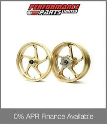 Galespeed Gp1s Curved 5 Spoke Gold Forged Alloy Wheels Bmw S1000rr Hp4 2013