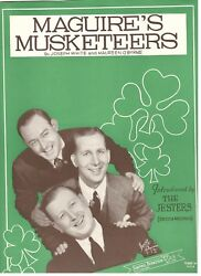 The Jesters Maguireand039s Musketeers Sheet Music-piano/vocal/chords-1941-rare-new