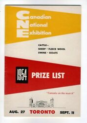 Canadian National Exhibition Cne Toronto Prize List Cattle Sheep Swine 1954
