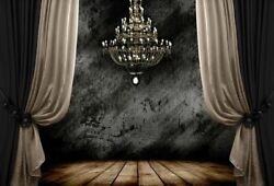 7x5FT Vinyl Photo Backdrops Curtain Chandelier Retro Photography Background