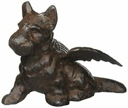 Cast Iron Scottish Terrier Scottie Dog Angel With Wings