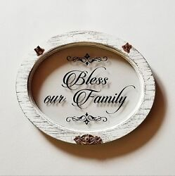 Home Décor quot;Bless Our Familyquot; Wall Accent