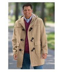 Nwt Men Plus Size Big And Tall Wool Blend Parka Coat Winter Jacket Msrp 199