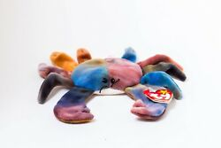 1996 Ty Beanie Baby Claude The Crab - Multiple Errors P.v.c. Pellets