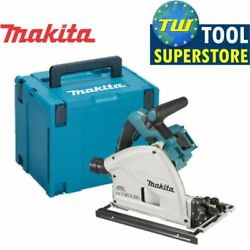 Makita Dsp600zj Twin 18v 36v Lxt Brushless Plunge Saw And Makpac Carry Case
