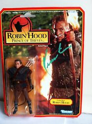 Kevin Costner Signed Autograph Robin Hood 5 Long Bow Kenner Action Figure C0a