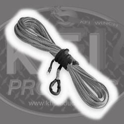 Kfi Winch Synthetic Winch Line Cable 1/4 X 50' Smoke