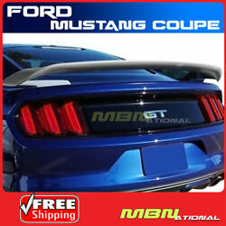 Painted Spoiler For 15-18 Ford Mustang Coupe Abs Trunk Mount Pq Race Red