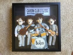 Rare Beatles Applause Collectible Dolls In Shadow Box Display