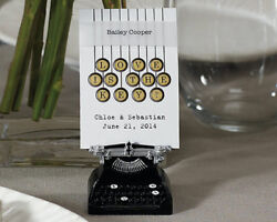 12 Vintage Typewriter Wedding Party Place Card Table Number Stationery Holders
