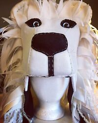 Luna Inspired Lion Head Hat Patronus White Silver- 2 Available