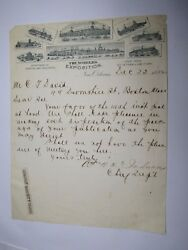 Rare 1884 Worlds Exposition New Orleans Letter Head Printing And Pub Dept