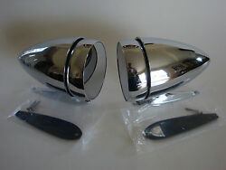 1965 1966 1967 1968 Ford Mustang Bullet Style Racing Mirrors Left And Right Pair