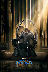 Hot Black Panther Marvel T'Challa 2018 New Art Movie 20