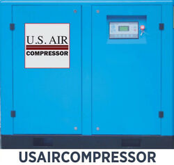 New 50 HP US AIR COMPRESSOR ROTARY SCREW VFD VSD w/ Trad'n Quincy Sullair etc