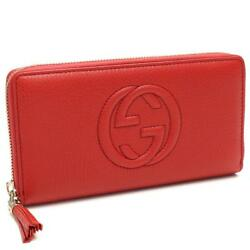 Auth Gucci SOHO Round zipper Long wallet With coin purse