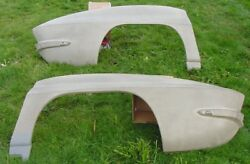 1965 1966 Corvette Nos Fiberglass Light Grey 1/4 Panels Gm 3797019 3797020