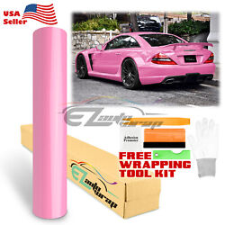 Premium Gloss Glossy Pink Car Vinyl Wrap Sticker Decal Air Release Bubble Free