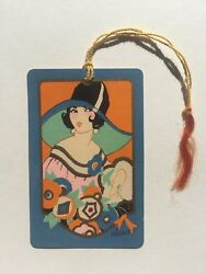 Vintage 1920s Playing Card Style W/ Deco Woman And Flowers -bridge Game Tally