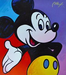 Peter Max Mickey Mouse Suite Iv Hand Signed Serigraph 1995 Disney